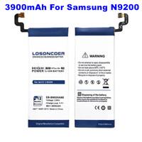 batarya eb toptan satış-Üst Samsung GALAXY Not 5 için 3900 mAh EB-BN920ABE Pil Pil N9200 N920t Projesi Asil N920C Note5 SM-N9208 N9208