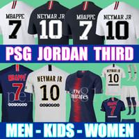ed18f7cde70b2f Top Tailândia qualidade AIR JORDAN PSG 3RD 18 19 camisas de futebol 2019  Paris saint germain camisa NEYMAR JR MBAPPE jersey Survetement futebol kit  camisa ...