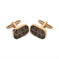 Wholesale vintage cufflinks gold for sale - Group buy Vintage Cufflink For Men Shirt Cufflinks Brand Cuff Buttons Gold Color Cuff Link High Quality Pattern Wedding Jewelry pairs Christmas Gift