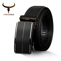 Wholesale male cowhide belt - COW New Arrival cow genuine leather men's belt cowhide strap for male automatic buckle belts for men alloy buckle belts