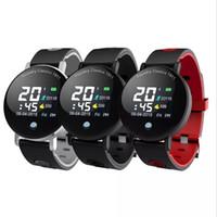 Wholesale round wrist watch big dial online - Y6 Plus Smartwatch Blood Pressure Heart Rate Stopwatch Sport Mode Smart Watch Men Women Round Big Display Bracelet by niubility