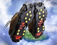 ingrosso crampi di catena-Nuovi copriscarpe antiscivolo per arrampicata all'aperto Ice Universal Crampons Tacchette da neve Traction - 10 Teeth Claw Stainless Steel Chain Spedizione gratuita