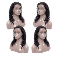 Wholesale french deep wave human hair resale online - Cheap Deep Wave Lace Front Wigs Malaysian Virgin Human Hair Lace Front Wigs Remy Hair Vendors