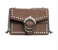 Ladies Suede Cadeia Bolsas de ombro Designer Crystal Rhinestone Embreagem Hand Bags PU Leather Crossbody Bags For Women