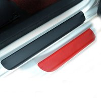 Wholesale Door Sill Vw - Car Door Sill Scuff Plate Stickers Carbon fiber For Volkswagen VW Golf 6 MK6 2009-2013 Car styling Accessories