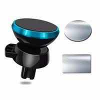 telefon auto magnethalter großhandel-360 rotierenden Universal Car Holder magnetische Air Vent Mount Magnet Smartphone Dock Handy Halter für iPhone Handy Halter GPS Stand