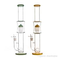 ingrosso albero di fiore di vetro-Tubo dell'acqua di vetro di bong di vetro da 18 pollici CCG con fiore di perc perc 18,8mm di braccio perc albero di vita e braccio
