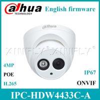 Wholesale dahua mini dome - Dahua IPC-HDW4433C-A POE Network IP CCTV Camera 4MP Star-Light IR Mini Dome Built-in Mic Replace IPC-HDW4431C-A EXPRESS SHIP