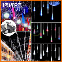 ingrosso tubi meteor a led all'aperto-Luci stringa 20CM 30CM 50CM Meteor Shower Rain Tubes AC100-240V LED Luci di Natale Festa di nozze Garden Xmas String Light Outdoor