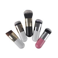 Wholesale tool bb online - Large Round Head Makeup Brushes for Foundation BB Cream Powder Cosmetic Make up Brush Flat Head Soft Hair Makeup Tools