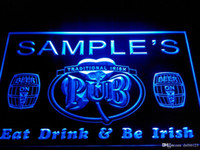 Wholesale irish neon bar signs - DZ002-b Name Personalized Custom Irish Pub Shamrock Bar Beer Neon Sign