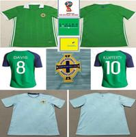 Wholesale ireland soccer jersey - 2018 Northern Ireland Soccer Jerseys 8 DAVIC 10 K.LAFFERTY 5 J.EVANS 17 McNAIR Custom Home Away Green Blue White Football Shirts
