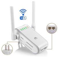 wi fi ретрансляторы оптовых-300 Мбит Беспроводной Wi-Fi ретранслятор диапазон расширитель Booster EU Plug + 2x антенны