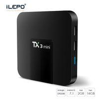 android tv kutusu sattı toptan satış-Bluetooth 2.4G ile android tv kutusu 2gb 16GB ile TX3 Mini tv kutusu Aile zamanlı filmin keyfini sıcak satmak tv kutusu wifi