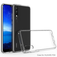 Wholesale Chinese Cushions Covers - For Huawei P20   P20 Lite   P20 Pro Transparent Case Shockproof Soft TPU Bumper + Clear PC Back Cover Air Cushion Phone Fitted Cases