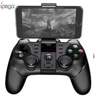 pc için ipega android denetleyicisi toptan satış-iPega PG Kablosuz Gamepad Bluetooth Oyun Denetleyicisi Gamepad Kolu ile TURBO Joystick için Android / iOS Tablet PC Cep Telefonu TV Kutusu
