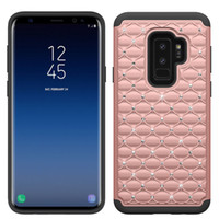 Wholesale hybrid diamond cases online – custom Hybrid Armor Case For Samsung Galaxy S9 Plus Bling Diamond Starry Rubber PC Silicone Rhinestone Phone Case D