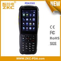 chip do leitor rfid venda por atacado-Escritor / leitor Handheld do cartão de microplaqueta de NFC do andróide RFID da tela de toque de ZKC PDA3501