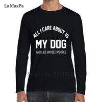 solo ropa de hombre al por mayor-Regalo creativo Crazy Only Love Dog Camiseta de regalo Trend winter Style Camiseta regular Clothing Cuello redondo Camiseta de hombre Cheap Sale