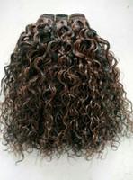 1b extensiones de cabello mixtas al por mayor-Virgen humana brasileña Remy Hair Natural Black 1b # Mix Medium Brown 4 # Extensiones de cabello humano trama del pelo doble Drawn