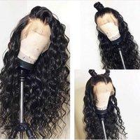 18-дюймовые кудрявые вьющиеся волосы оптовых-360 Кружева Лобные Человеческие Волосы Вьющиеся Парики Afro Kinky Вьющиеся Полный Парик Шнурка Перуанский Девы Парик Фронта Шнурка с Волосами Младенца 22 Дюймов