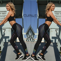 Wholesale reflective running pants - 2018 Fitbody noctilucent Yoga Pants Women Fitness Sexy Hips Push Up Leggings Mesh Sport Running Tight Pants Women Fitness Slim Gym Leggings