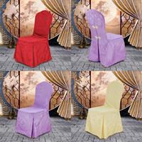 düğün sandalyesi çiçekleri toptan satış-Kılıf Otel Polyester Elyaf Phoenix Çiçek Masa Sandalye Toplantısı Sergi Dışkı Takım Wedding Banquet Ücretsiz Kargo 18wt V