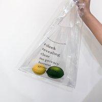 ingrosso totes di estate coreana-Le lettere stampano le borse del PVC di grande dimensione chiare per lo shopping Le borse di totalizzatore della spiaggia di estate del coreano di alto design chic elegante