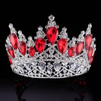 Wholesale wedding hair royal crown online - Luxury Bridal Crown Surper Big Rhinestone Crystals Wedding Crowns Crystal Royal Crowns Hair Accessories Party Tiaras Baroque chic Sweet