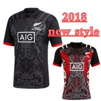 tamaño rojo de los jerseys al por mayor-2018 2019 Maori All Blacks Jersey new zealand camisetas de rugby de calidad superior rojas 100 años Aniversario 17 18 MAORI Territorio talla S-3XL