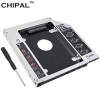 ide hdd caddy toptan satış-CHIPAL Alüminyum Alaşım SATA IDE 2nd HDD Caddy için 12.7mm için 2.5