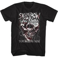 neue halskette großhandel-SKID ROW Herren Kurzarm T-Shirt BLACK SKULL CHAIN 100% Baumwolle Casual Druck Kurzarm Herren T-Shirt O-Ausschnitt 2018 New Tee Print Männer