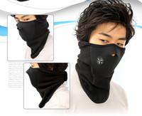 Wholesale snowboard neck warmer - Winter Cycling Mask Thermal Fleece Half Face Neoprene Mask Windproof Neck Warm Headwear Outdoor Ski Snowboard Guard DDA588