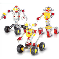 Wholesale Metal Warriors - 3D Assembly Metal Model Kits Toy Machine Waiter Robots Warrior Housekeeping Robot Accessories Construction Play Set