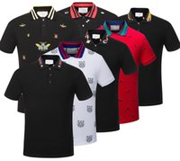 Wholesale Hand Clothes - polo shirt fashion Short Sleeved animal embroidery polo t shirts men tee design printing poloshirts clothes Medusa tops