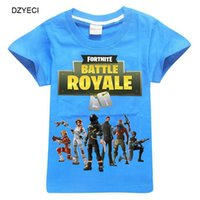Wholesale kids tee shirts for boys - Summer Fortnite T Shirt For Teenager Boy Girl Tee Clothes Fashion Kid Short Sleeve Cartoon Cotton Tank Children Top