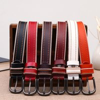 Wholesale Top Quality Leather Belts - 2018 top buckle genuine leather mc belt designer belts men women high quality new mens belts luxury brand belt free shippingg