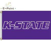 Wholesale kansas state for sale - Group buy Flag of NCAA Kansas State Wildcats Newly polyester Flag ft ft cm cm Flag Banner decoration flying home garden outdoor gifts