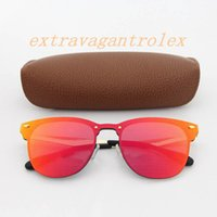 Wholesale bright eye sunglasses for sale - Best selling ladies sunglasses fashion Vassl brand designer gold metal frame red bright sunglasses glasses to brown box