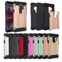 Wholesale slim armor cases - Tough Slim Armor Hybrid Rugged Impact PC TPU SGP Case For Samung Galaxy S9 Plus A8 2018 Nokia 3 5 6 8 XiaoMi RedMi RedMi5 5Plus