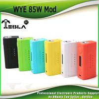 Wholesale metals weights - Original Tesla WYE 85W Box Mod VW TC Light Weight 18650 Battery Vape Ecig Mods Teslacig 100% Authentic