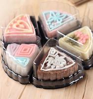 Wholesale moon cake package - mini wedding cake tray  mooncake packaging cake box   moon cake tray cake decorating packaging free shipping 1500pcs
