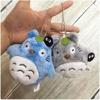 Wholesale toy chinchilla online - Lovely Small Plush Pendant Totoro Series Mobile Phone Strap Doll Bead Chain Feel Comfortable Gift Chinchilla Ornaments rr W