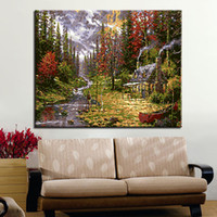Wholesale painting acrylic sheets online - Country Town Cottage DIY Oil Painting By Numbers Coloring House Canvas Pictures Calligraphy Acrylic Wall Art Hand Paint Decor