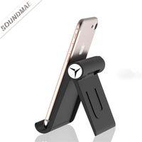 складной смартфон оптовых-Универсальный ABS вращающийся складной мобильный телефон планшет стол держатель стенд для iPhone iPad мини Samsung смартфон таблетки ноутбук розничной упаковке
