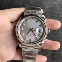 Wholesale Wrist Watch Original Straps - 2018 Hot Sale Hot ROLES Luxury JUST m126334 Series 40MM Silver Diamond 316L Stainless Steel Original Strap Sapphire Men's Sport Wrist Watch