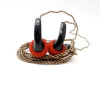 fiş kulaklık diy toptan satış-100% Yeni FENGRU DIY EMX500 Kulak Kulaklık Düz Kafa Fiş DIY Kulaklık HiFi Bas Kulaklıklar DJ Kulaklıklar Ağır Bas Ses Kalitesi