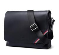 Wholesale briefcase cross body for sale - Group buy 2018 new famous Brand Classic designer fashion Men leather messenger bags cross body bag school bookbag shoulder bag briefcase CM