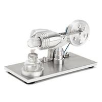 wissenschaft spielzeug neu großhandel-Großhandels- Neue Ankunft Edelstahl Mini Heißluft Stirling Motor Motor Modell Pädagogisches Spielzeug Wissenschaft Experiment Kit Set Für Chuldren