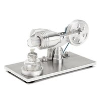 wissenschaft experimente kits großhandel-Großhandels- Neue Ankunft Edelstahl Mini Heißluft Stirling Motor Motor Modell Pädagogisches Spielzeug Wissenschaft Experiment Kit Set Für Chuldren